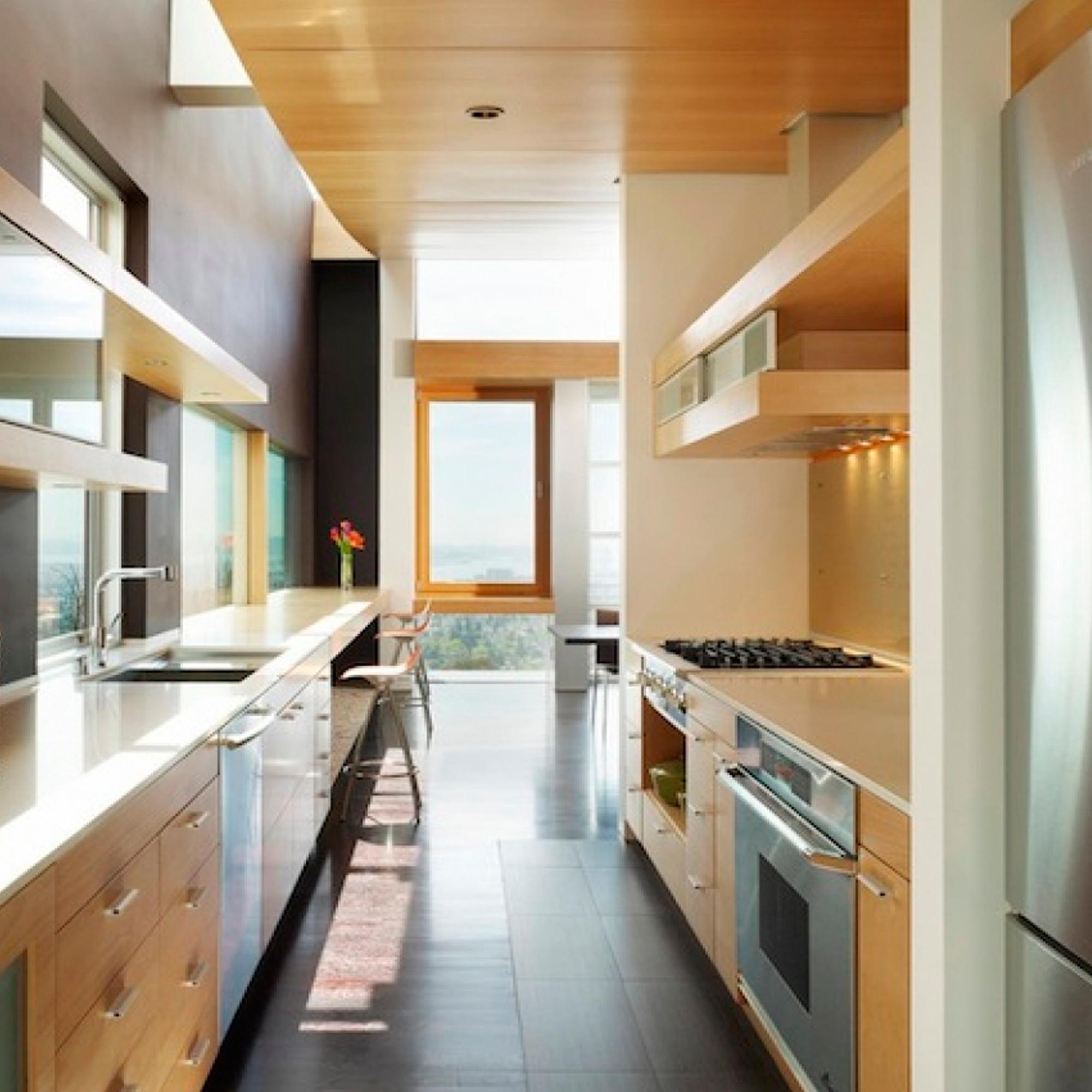 Двурядное расположение кухни