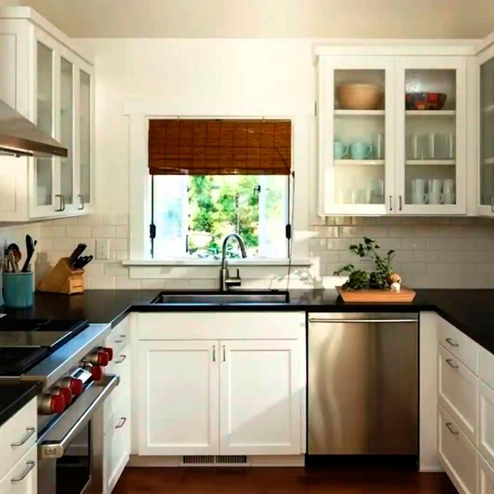 П-образное расположение кухни